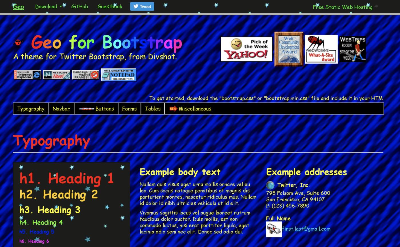 http://code.divshot.com/geo-bootstrap/