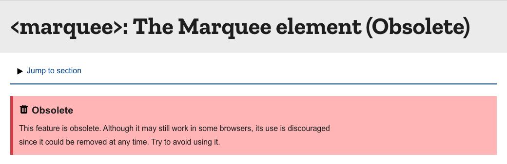 https://developer.mozilla.org/en-US/docs/Web/HTML/Element/marquee