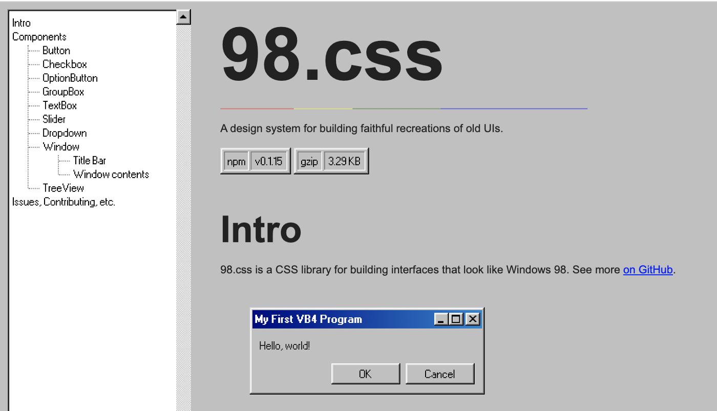 开源推荐|10个惊人的复古CSS套件